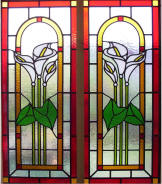 Stained Glass Window Calla Lillies