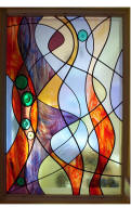 Contemporary Design Stained Glass Window