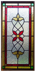 Victorian design stained glass window