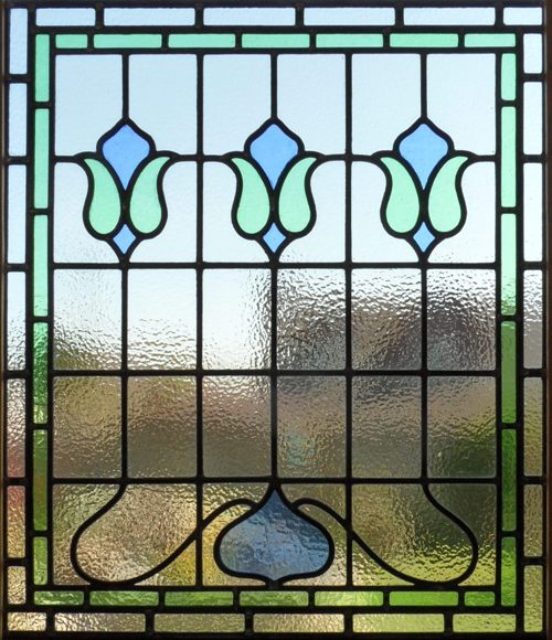 Victorian/Edwardian stained glass panel