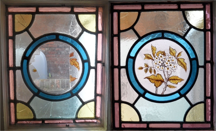 Repair to traditional stained glass window